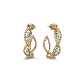 Roberto Coin 'Barocco' 18ct Gold & Diamond Earrings (£1845.00)