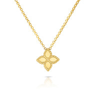 Roberto Coin 'Princess Flower' 18ct Yellow Gold Pendant & Chain (£615.00)