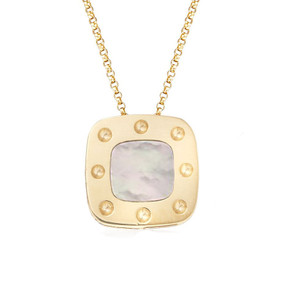 Roberto Coin 'Pois Moi' 18ct Gold & Mother of Pearl Pendant (£565.00)