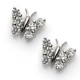 Diamond set Butterfly Earrings  (£695.00)