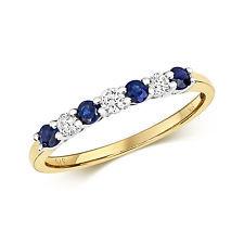 Sapphire & Diamond Claw Set Eternity Ring