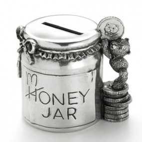 Pewter Teddy Money Jar