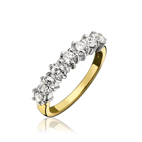 18ct Gold, Seven Stone Diamond Eternity Ring