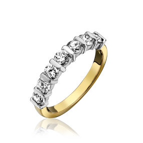 18ct Gold, Bar Set Diamond Eternity Ring