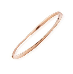9ct Rose Gold Wave Bangle