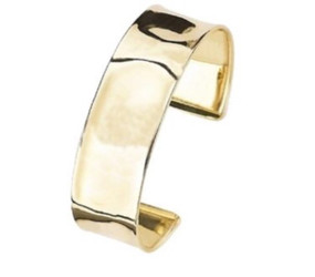 9ct Yellow Gold Hammered Torque Bangle