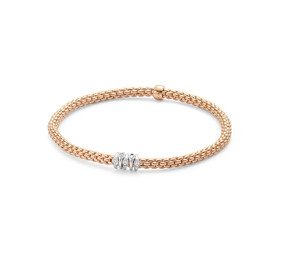 18ct Rose Gold Fope Prima Bracelet