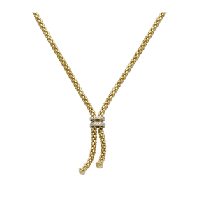 18ct Yellow Gold & Diamond Fope Maori Necklace