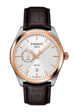 Tissot PR 100 Dual Time (Brown/Silver)