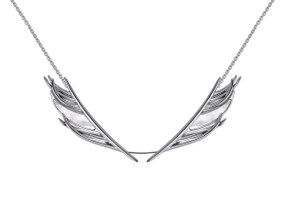 Shaun Leane Silver & Mother of Pearl Feather Necklace