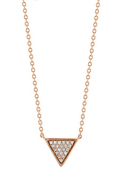 18ct Rose Gold Geometric Triangle Diamond Pendant