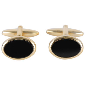 Onyx and Gold Cufflinks