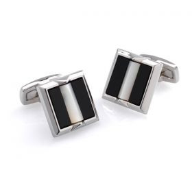 Mother of Pearl and Onxy Cufflinks
