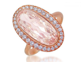 Gatward 1760 Collection - Rose Gold, Morganite and Diamond Ring (£1855.00)