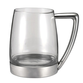 Glass and Pewter Tankard