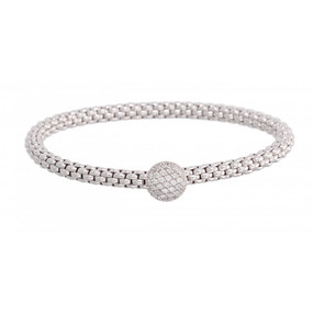 Fope Flex-it White Gold and Diamond Bracelet