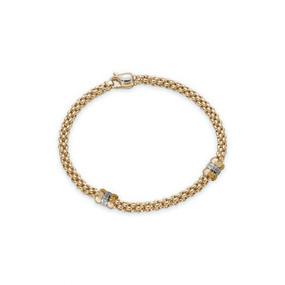 Fope Yellow Gold and Diamond Bracelet