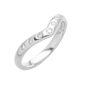 Diamond Set  V shaped Wedding Band (Prices from £1150.00)