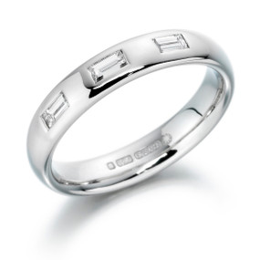 Baguette Cut Diamond set Wedding Band (Prices from £1525.00)