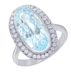 Gatward 1760 Collection - Aquamarine and Diamond Ring