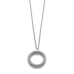 Fope Lovely Daisy Pendant in 18ct White Gold
