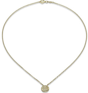 Fope Lovely Daisy Disc Pendant in Yellow Gold