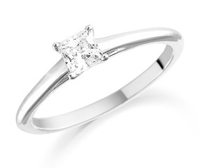 Solitaire Princess Cut Diamond Ring (Prices from £985.00)