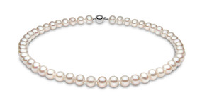 Cultured Freshwater Pearl Necklace With 9ct White Gold Clasp