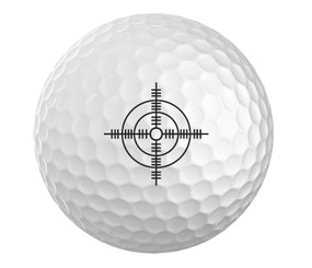 Crosshair Golf Ball