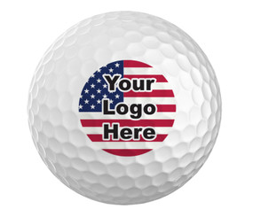 Custom Logo Golf Ball - Set of 3