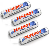 Tenergy AAA 1000mah Premium Ni-MH (High Discharge) 4 Per Pack