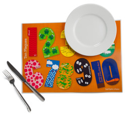 10 Plagues Placemat  Set of 4