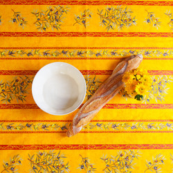 Yellow Olive Easy-Wipe Tablecloth