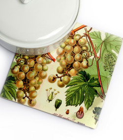 Antique-Style Botanical Trivet - Grape