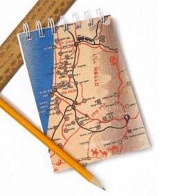 Retro Map of Israel Notepad and Notebook