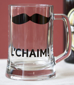 L'chaim! Glass Beer Pint - English
