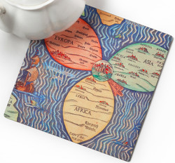 Trivet - Jerusalem Clover Map, Center of the World