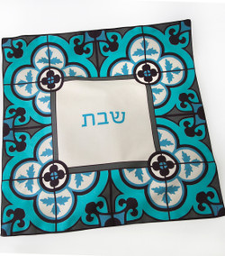 Challah Cover - Flower Tile.