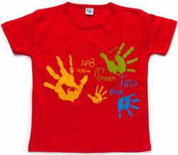 Children's T-Shirt - Hands Red