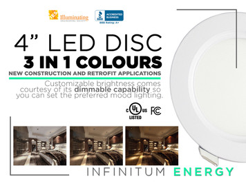 """4"""" LED Disc, 3 in 1 coulours"""