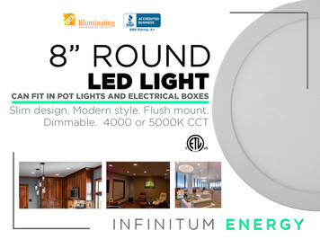 "8"" Round Led Light"
