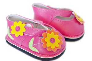 FLOWER MARYJANES IN PINK