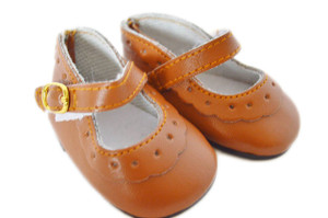 My Brittany's  Tan Flower Mary Janes for American Girl Dolls