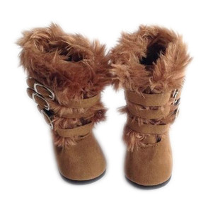 My Brittany's Modern Dark Brown Fur Boots for American Girl Dolls