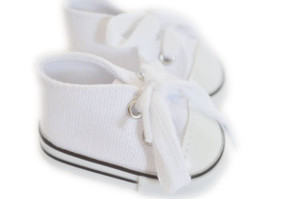 My Brittany's White Canvas Sneakers for American Girl Dolls