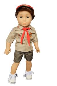 My Brittany's Khaki Boy Scouts for 18 Inch Boy Dolls