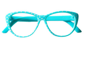 LIGHT BLUE POLKA DOT READING GLASSES