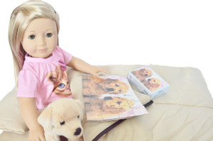 ✿ KHAKI SLEEPING BAG FOR AMERICAN GIRL DOLLS ✿