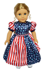 STARS AND STRIPES DRESS FOR AMERICAN GIRL DOLLS