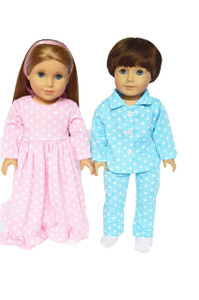 2 Pk Pink and Blue Nightgown and Pj set.